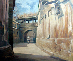 Academic,Beijing,Hu Tong,Traditional Culture,Old Wall No.1,Oil Painting