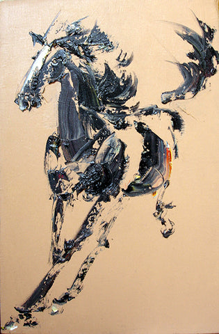 Academic,Horse,Running No.1,Oil Painting