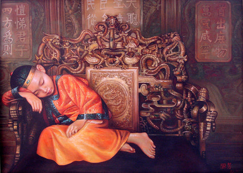 Little Emperor,Last Emperor,Chinese Culture,Oil Painting