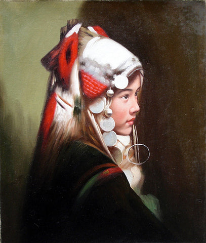Girl Miao Nationality,Classic Size No.1,Oil Painting