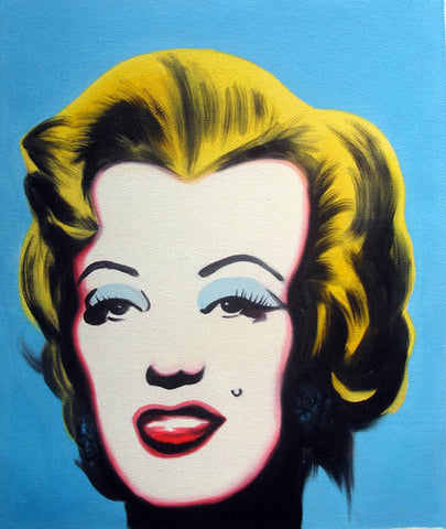 Andy Warhol,Marilyn Monroe,POP Art,Girl,Blue Version,Oil Painting