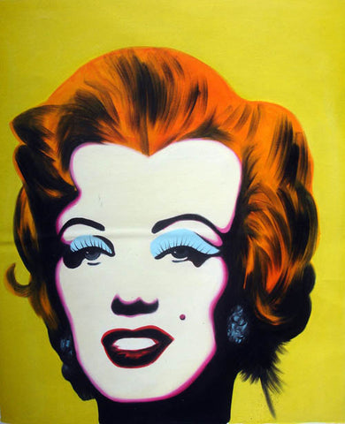 Andy Warhol,Marilyn Monroe,POP Art,Girl,Yellow Version,Oil Painting