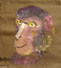 Academic,Animal,Monkey,Oil Painting