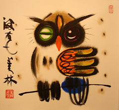 Chinese Painting,Owl,Animal,Harry Potter