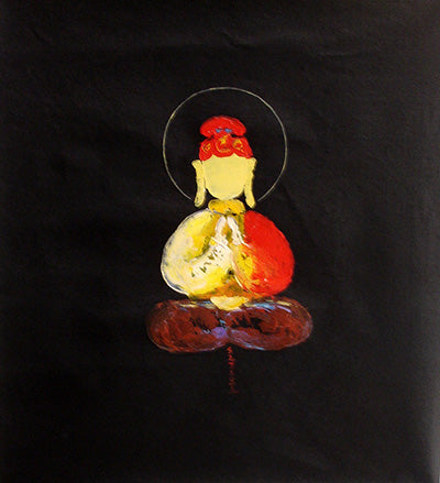 Best,Bodhisattva,Buddhism,Monk,Zen,Silk Road,Abstract,Oil Painting