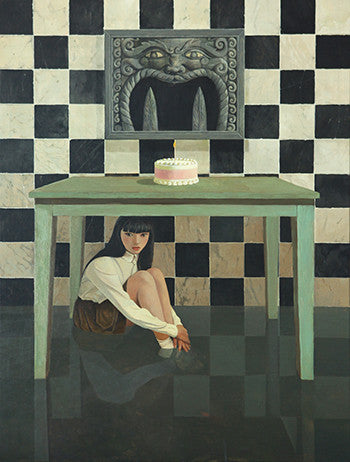 First Rebel,Girl,Cake,Adolescence,Oil Painting