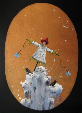 Contemporary Art,Academic,The Catcher,Scarecrow,Virtual Space,Oil Painting