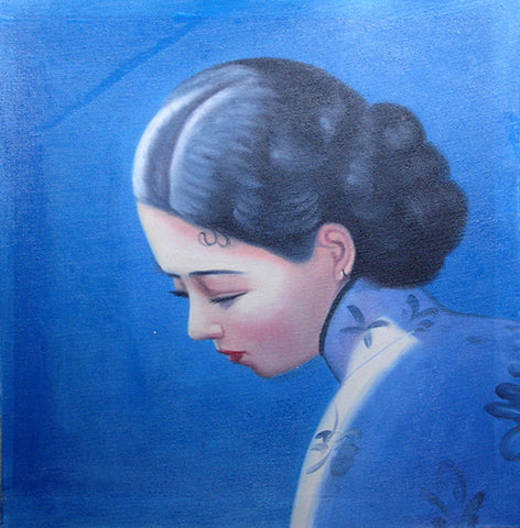 Old Shanghai,Film Star,Luan Lingyu,Oil Painting