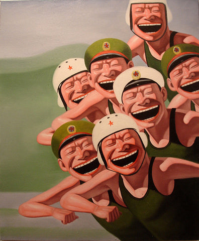 Contemporary Art,Smile,Army,Soldier,Humor,Oil Painting
