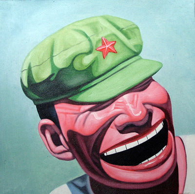 Best Selling,Contemporary Art,Humor,Smile Face,Soldier,Oil Painting