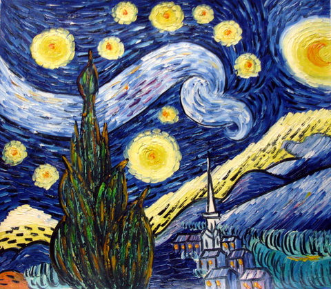 Oil Painting,Starry Sky,Van Gogh 02