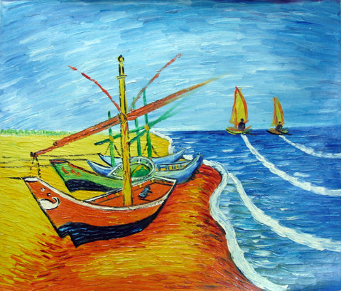 Oil Painting,Boat,Van Gogh 06