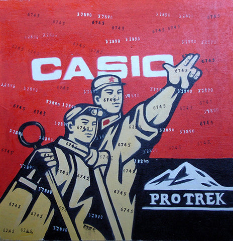 Culture Revolution,Worker,CASIO,Oil Painting