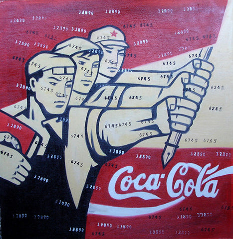 Culture Revolution,Coca Cola Mass Criticism,Oil Painting