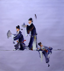 Academic,Chinese Opera,Drama Life,No.01,Humor,Oil Painting
