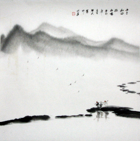 Chinese Culture Zen No.3,Academic,Chinese Painting