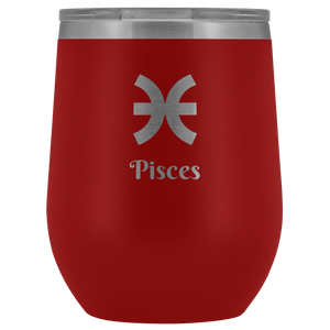 Pisces Etched Wine Tumbler