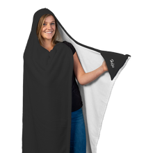 "Load image into Gallery viewer, ""Bring Wine"" Hooded Blanket w/ Mittens"