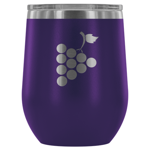 Grapes Etched Wine Tumbler