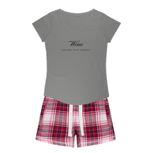 Load image into Gallery viewer, Wine Therapy Sleepy Tee and Flannel Short Set