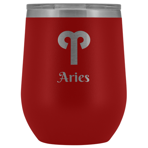 Aries Etched Wine Tumbler