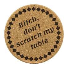 Load image into Gallery viewer, Be Blunt Cork Coaster Sets