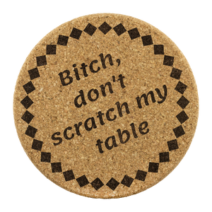 Be Blunt Cork Coaster Sets
