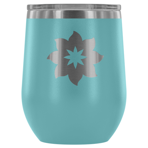 Flower Etched Wine Tumbler