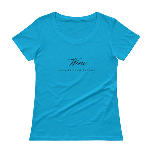 Wine Therapy Scoopneck Tee (available in 10 colors)