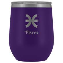Load image into Gallery viewer, Pisces Etched Wine Tumbler