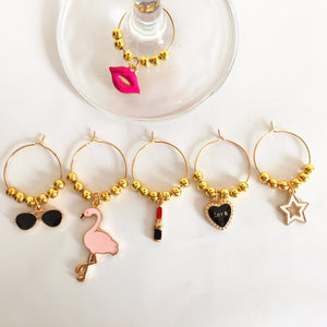 Diva Wine Glass Charms 6-piece Set
