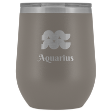 Load image into Gallery viewer, Aquarius Etched Wine Tumbler