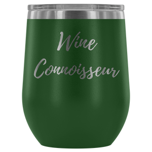 """Wine Connoisseur"" Etched Tumbler"