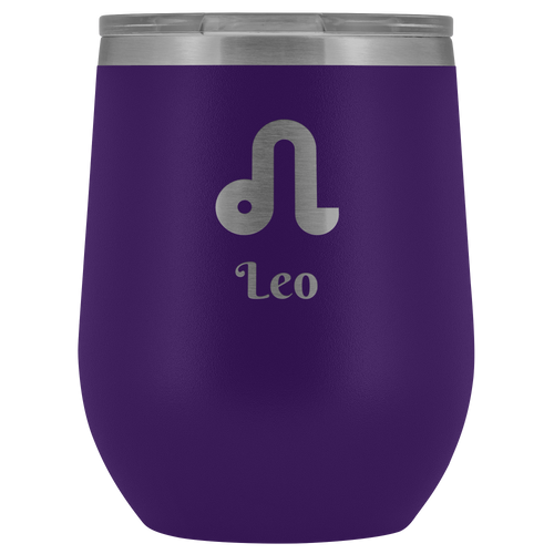 Leo Etched Wine Tumbler