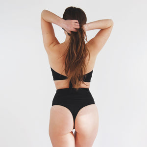 'Thrive' High Waisted Cheeky Bikini Bottoms