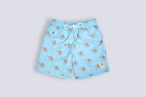 Men's Swim Shorts - Camel Design