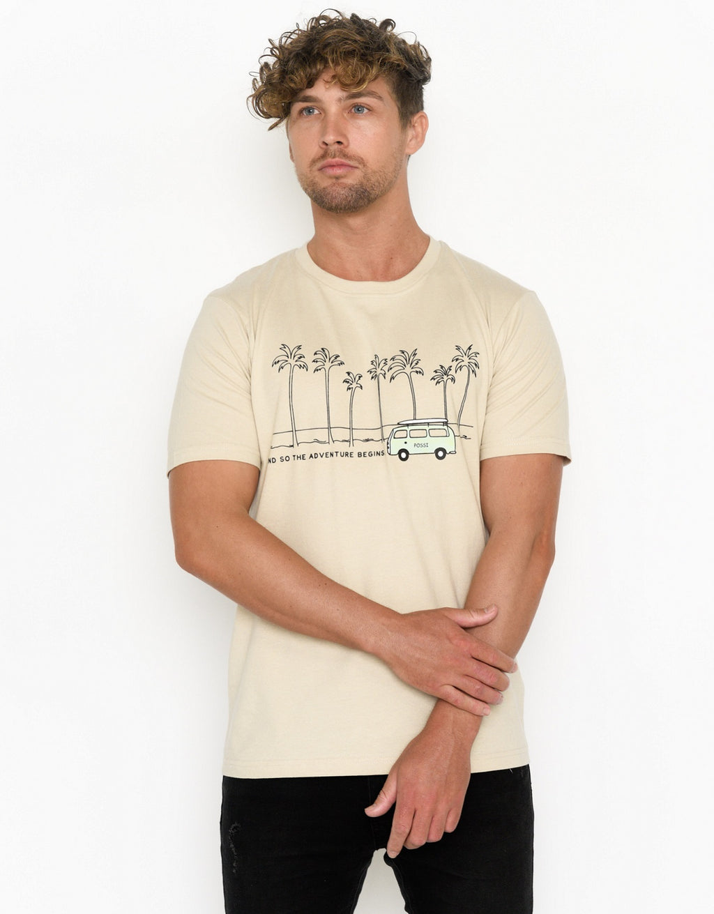 Men's Crew Neck T-shirt - Kombi Adventure