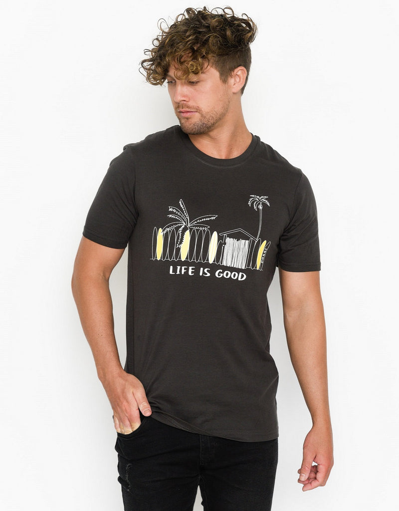 Men's Crew Neck T-shirt - Surf Boards