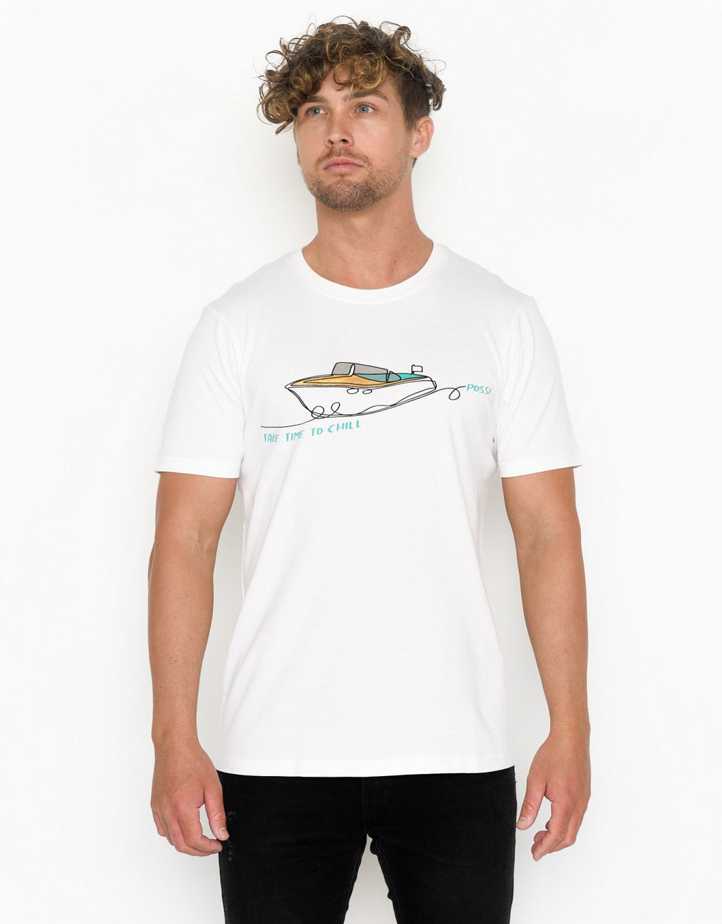 Men's Crew Neck T-shirt - Riva Boat