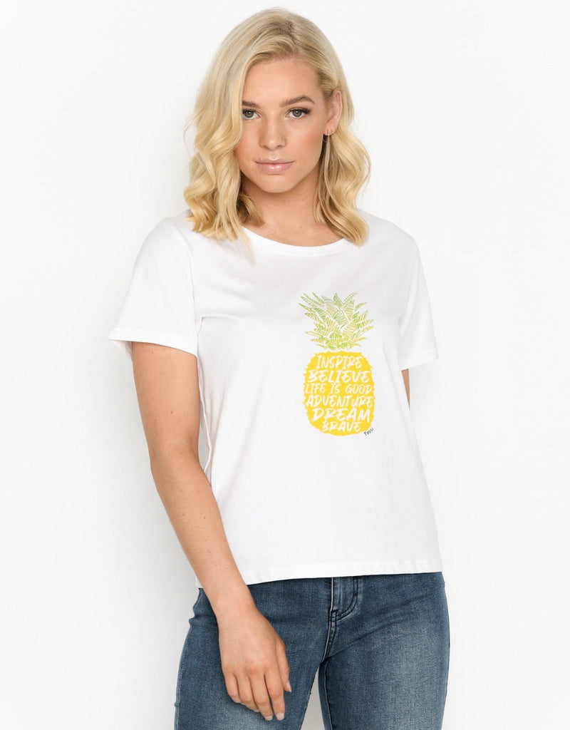 Women's Cube T-shirt - Pineapple