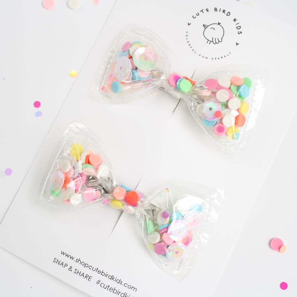 FUNFETTI Clear Mini Pigtails