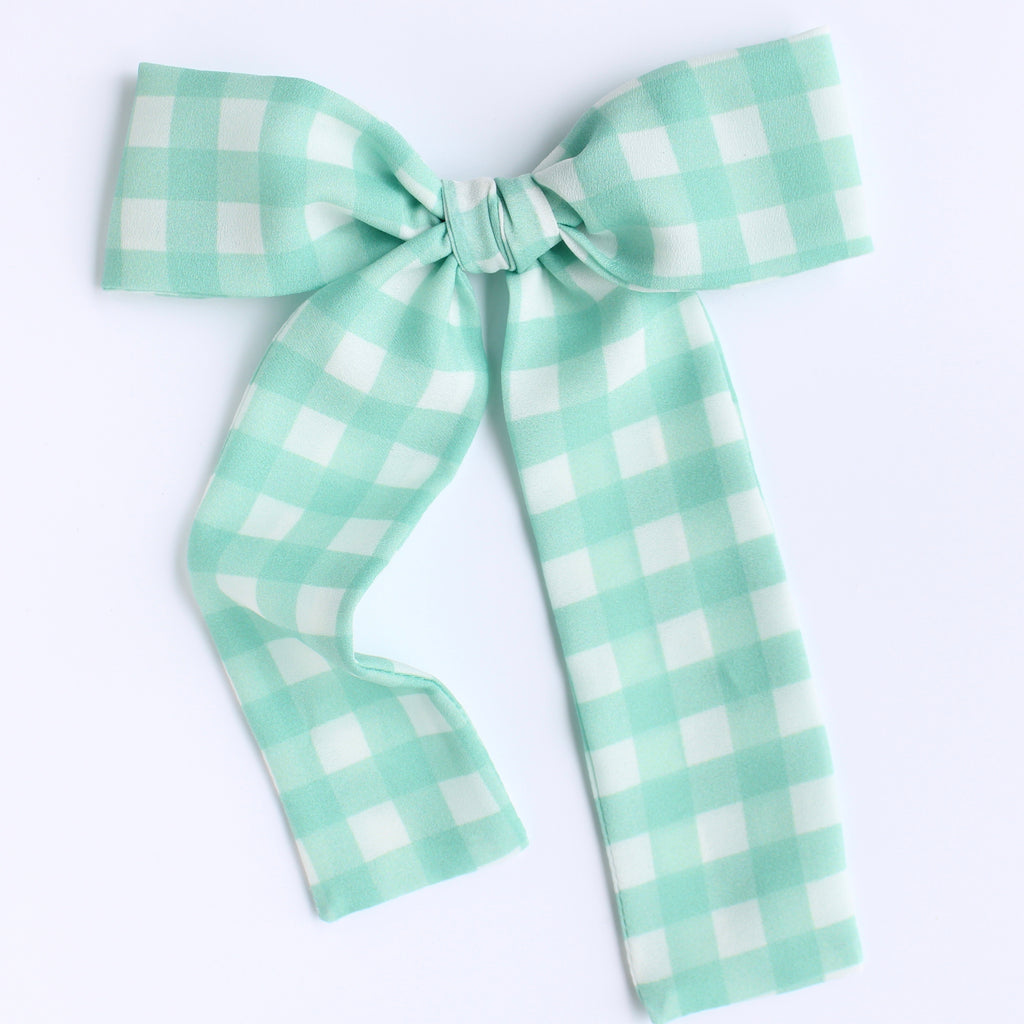 SAGE GINGHAM Lady Bow