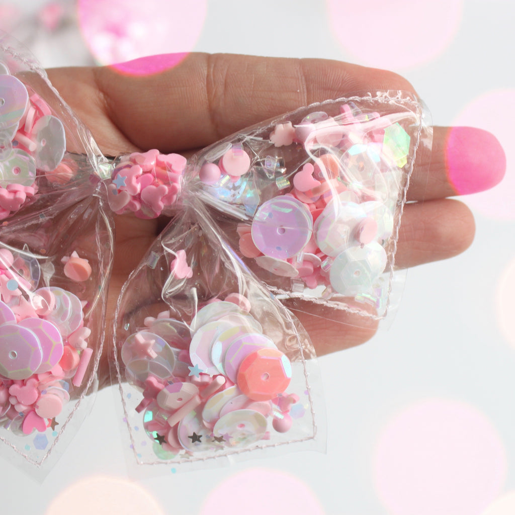 PINK MINNIE Clear Bows