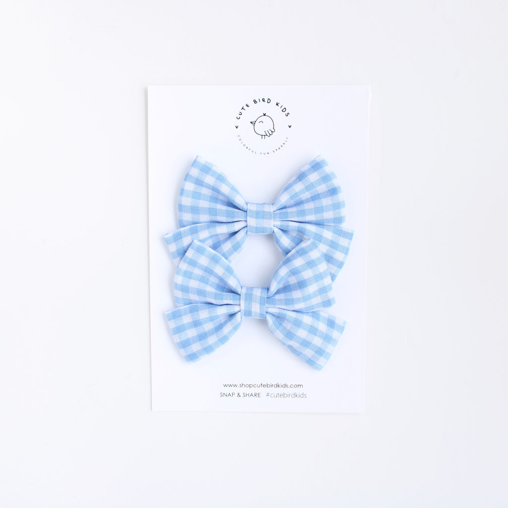 SPRING WATER GINGHAM Mini Laralie Pigtails