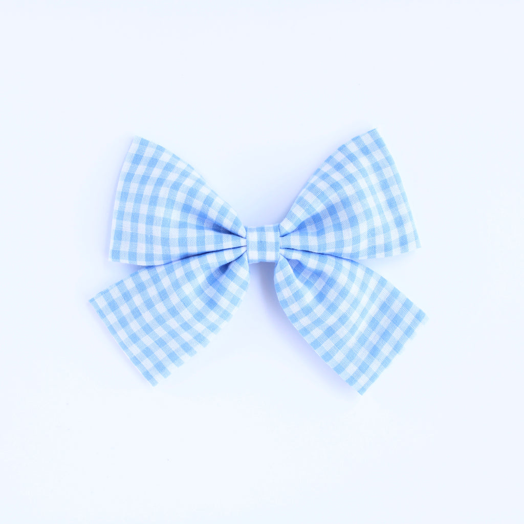 SPRING WATER GINGHAM Laraline Bow