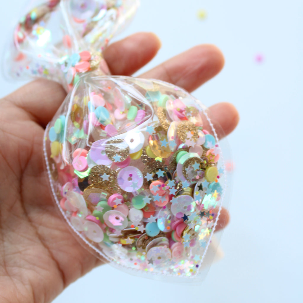 GOLD SPARKLE FUNFETTI Clear Headband