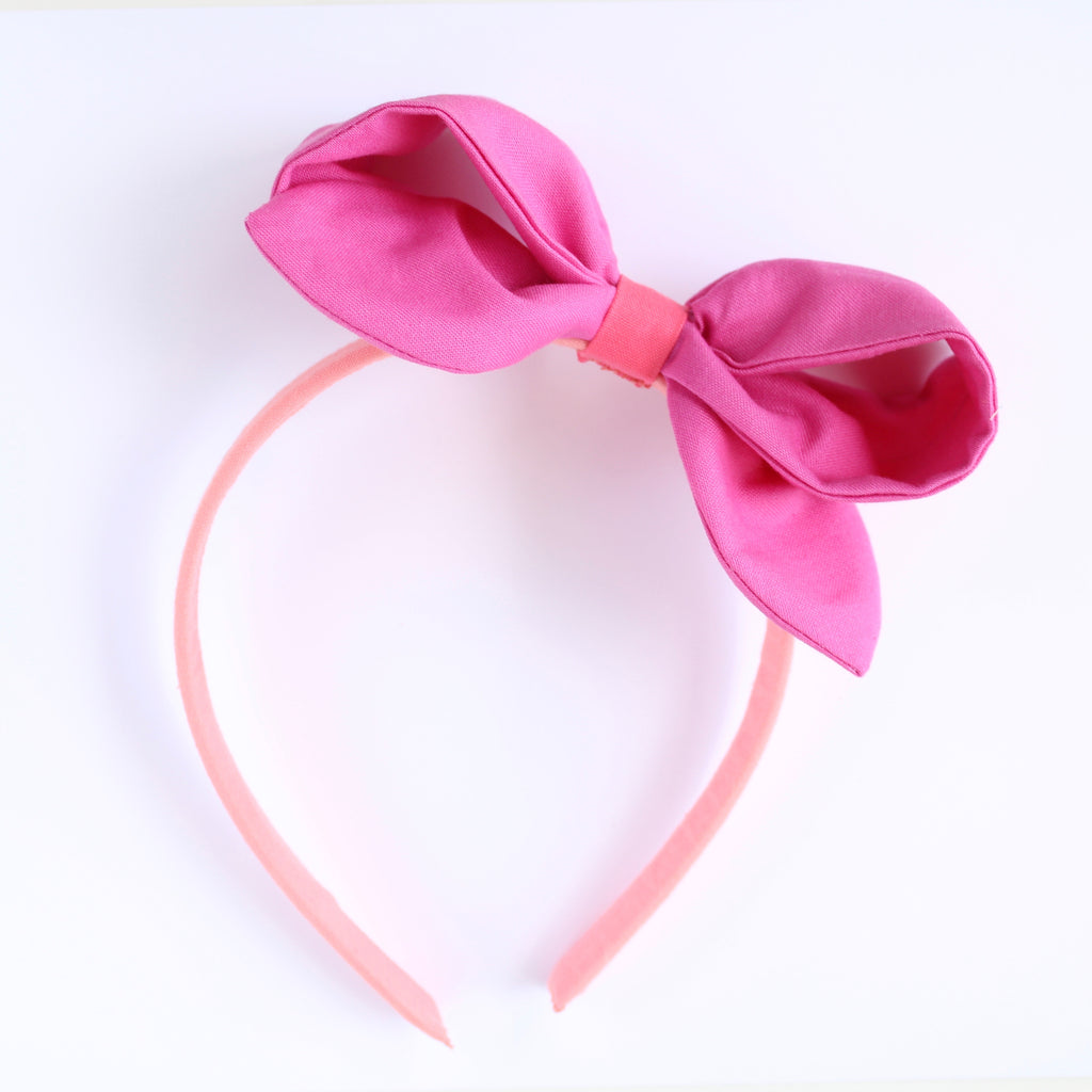 PARTY PINK MELON Color Block Ava Headband