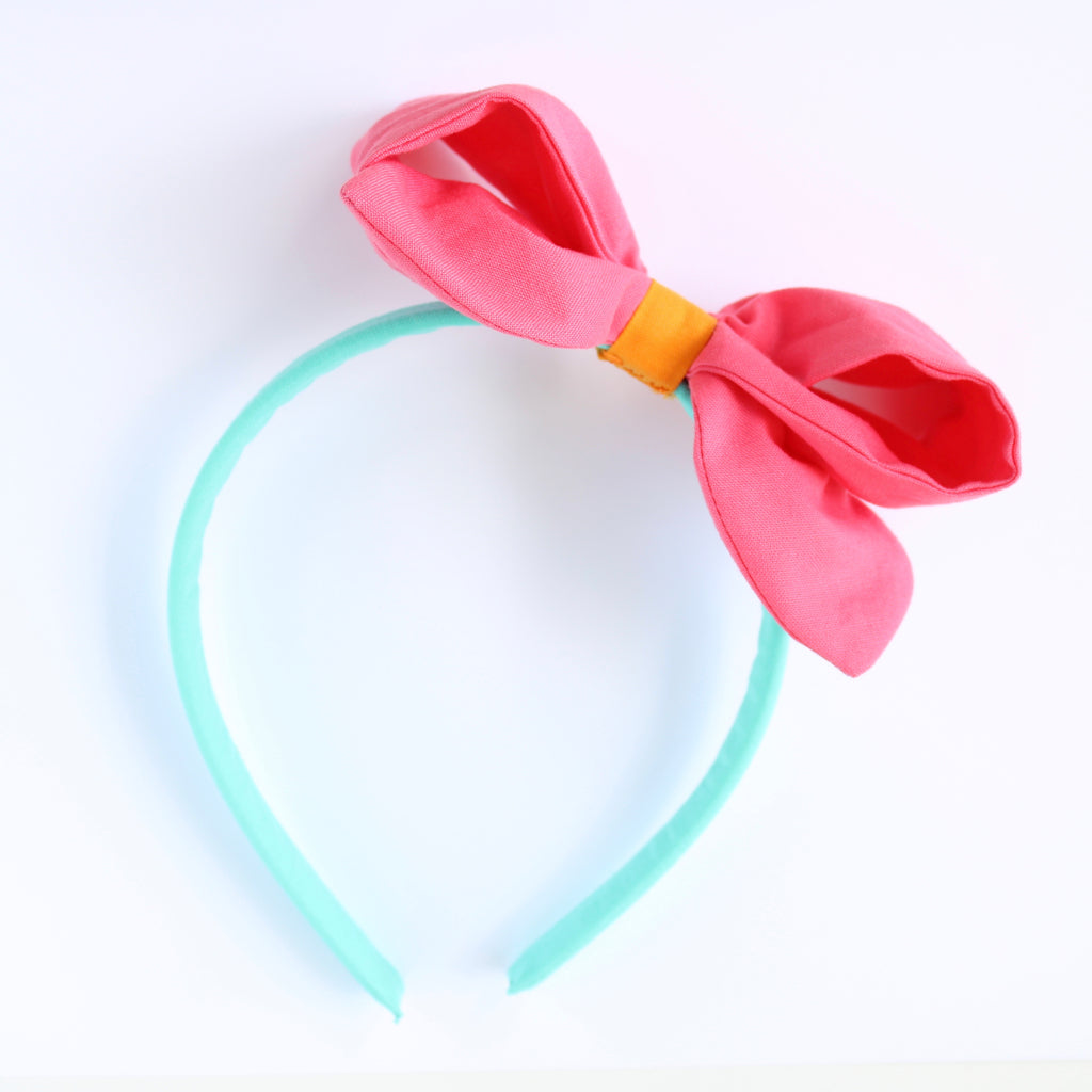 FLAMINGO SEAFOAM Color Block Ava Headband