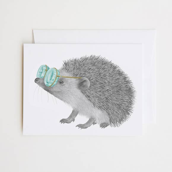 lecanotrouge Note Card : Whitby Valentine European Hedgehog