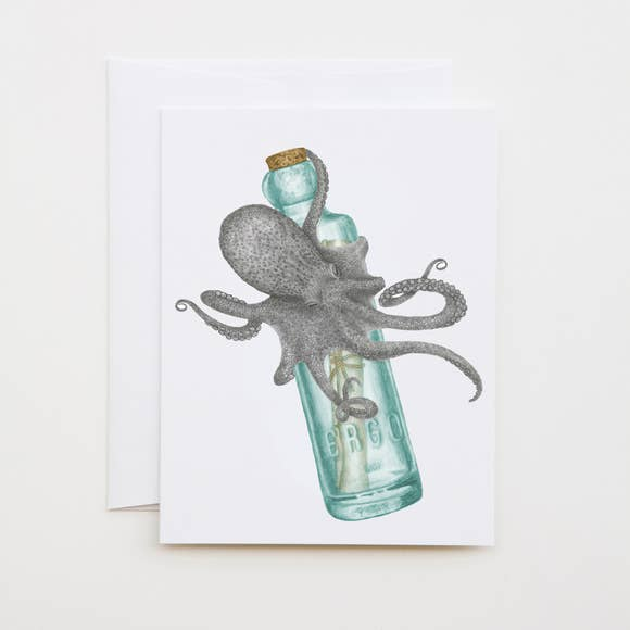lecanotrouge Note Card : Pip Verdad Common Octopus